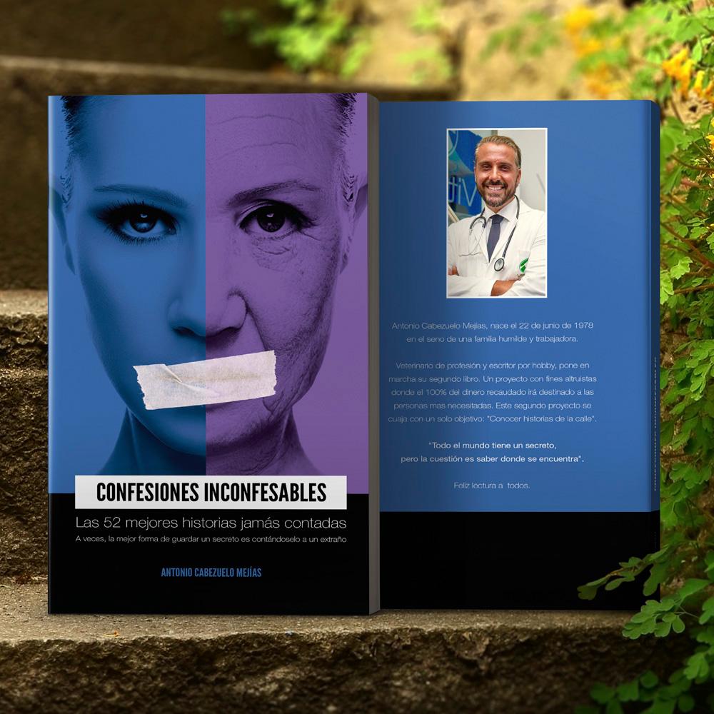 Antonio Cabezuelo Diseño editorial libro Confesiones inconfesables