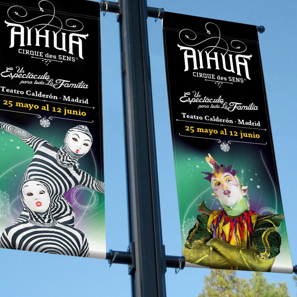 Cirque des Sens Aihua banderolas