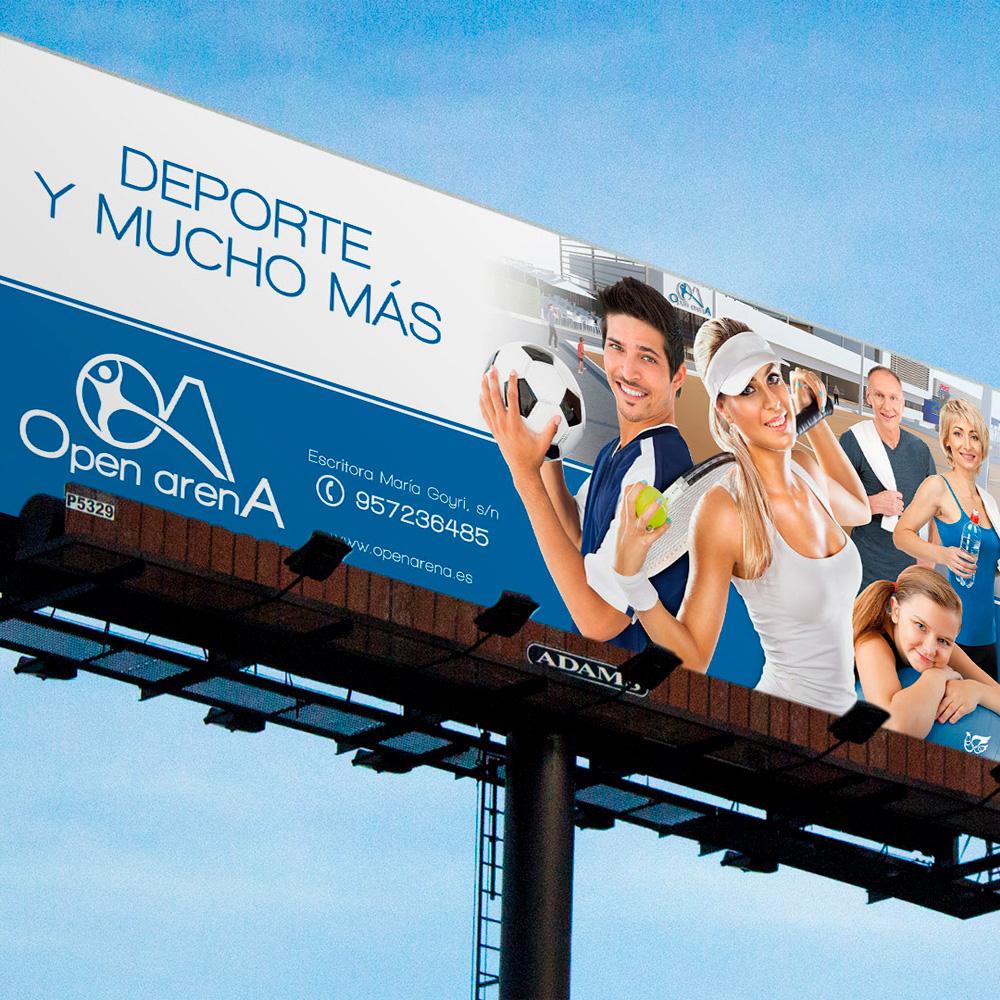 Open Arena Valla publicitaria